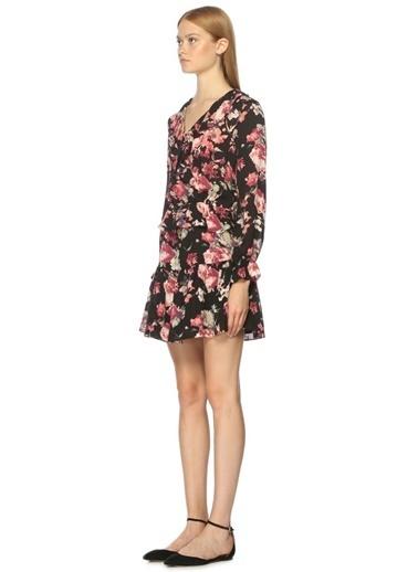 Uzun Kollu Çiçek Desenli Elbise-Joie